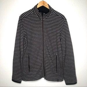 PrAna Full Zip Striped Knit Jacket Wool Blend Sz M